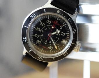 Komandirskie Original Watch VOSTOK Amphibian Amphibia WATERPROOF 100m rare dial