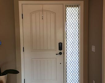 DESIGNER Door Panels   Custom Foyer Rod Pocket Front Door  Entry Door   French DoorsSidelight curtains   Etsy. Entry Door Sidelight Curtains. Home Design Ideas