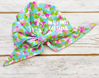 WATERCOLOR FLORAL Gorgeous Wrap- headwrap; fabric head wrap; floral head wrap; boho; newborn headband; baby headband; toddler bow