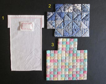 OOAK Quilts and sheets 1:12 for dolls and dollhouse. Miniature by Paola&Sara Miniature. Dress, doll, dollshouse.