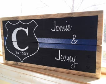 Mr. & Mrs. Personalized Reclaimed Wood Slat Sign