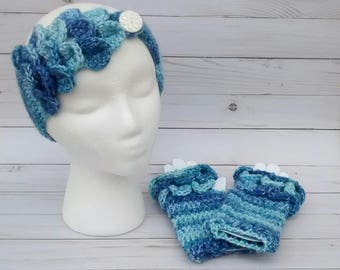 Matching Headwarmer and Texting Mitt Whimsical Wrap Gift set