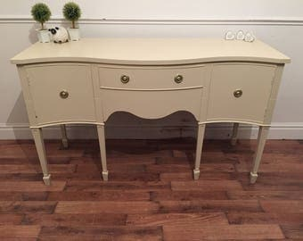 Mahogany serpentine front sideboard refurbished in String