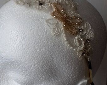 Beaded lace hairband