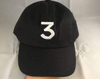 Sale!! Sale! Chance 3 Hat Cap Embroidered Strapback Dad Hat Black