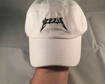Sale!! Yeezus Hat Cap Yeezy Tour Kanye Embroidered Dad Hat Strapback White