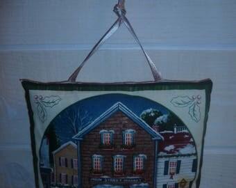 Pattern Christmas House door cushion