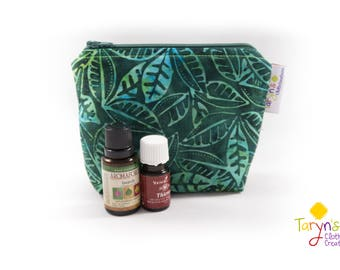 Small Essential Oil Carry Case, Greeenery Purse Saver, Young Living Oil Case, doTerra Storage Bag, Essential Oils Storage, Oils Travel Case