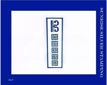 Viola Bookmark, Alto Clef Bookmark, Gift for Violist, C Clef Bookmark, Music Bookmark, Gift for Musician, B-7