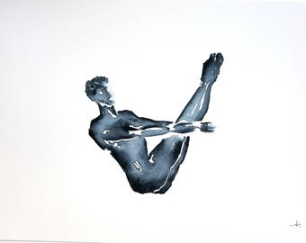 yoga art anatomy studio series one legged royal pigeon pose