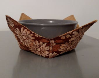 Bowl Holder - Brown Floral