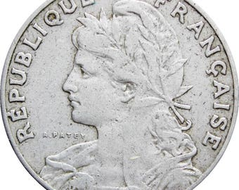 1905 25 Centimes France Coin