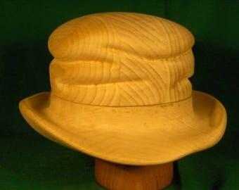 Wooden hat block, hat form, for milliner
