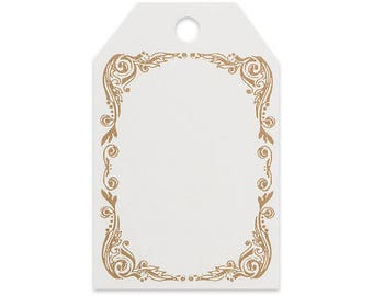 Gold Scroll Gift Wrap / Gift Bag  Tags -50pack