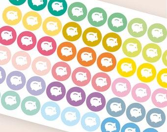 54 Money saving stickers, repositionable savings tracker, planner stickers, saving piggy bank sticker eclp filofax happy planner kikkik