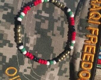 Military ribbon bracelet OIF