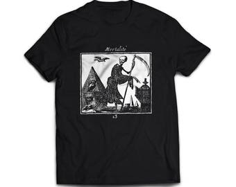 Unisex T-Shirt with medieval illustration MORTALITÉ