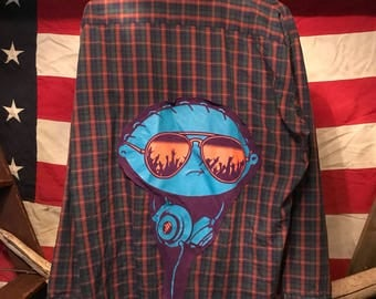Rave Stewie Upcycled Flannel