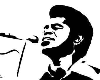 James Brown hand-drawn drawing / painting