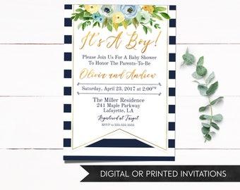 Boy Baby Shower Invitation, Boy Invitations, Baby Shower Invitation, Boy Shower Invitation