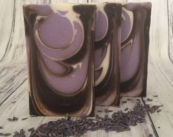 Lavender Soap - Lavender and Cocoa Soap - Fall Soap - Autumn Soap - Shea Butter Soap - Homemade Soap - Artisan Soap - Handmade Soap Bars