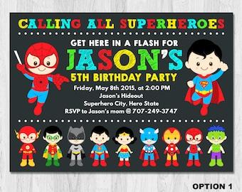 Superhero Birthday Invitation, Superhero Boy Invitation, Superhero Invitation, Superhero Invite, Superhero invitation printable