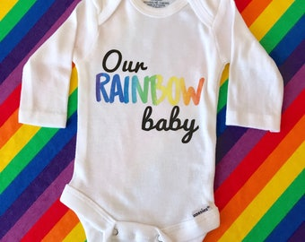 Our Rainbow Baby, Rainbow Baby Outfit, Rainbow Knot Hat, Newborn Hat, Infant Hat, Personalized Hat, Rainbow Baby, Rainbow Outfit,