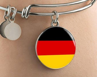 German Pride - Bangle Bracelet - Jewelry Gift For Her