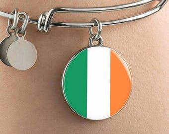 Irish Pride - Bangle Bracelet - Jewelry Gift For Her
