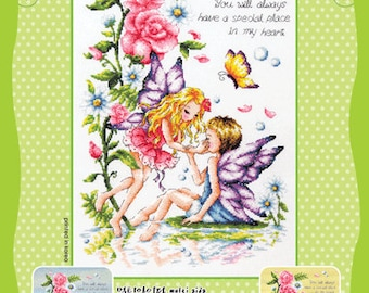 Fairy Grove of love Counted cross stitch chart SODAstitch SO-G9