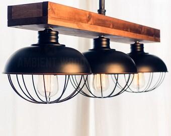 Pipe Vintage Edison Globe light chandelier vintage Industrial, Antique Edison Bulb, Cottage Lamp, Rustic Lighting