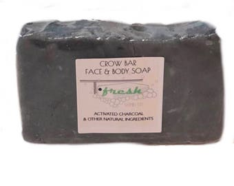 Crow Bar activated charcoal Hot processes soap