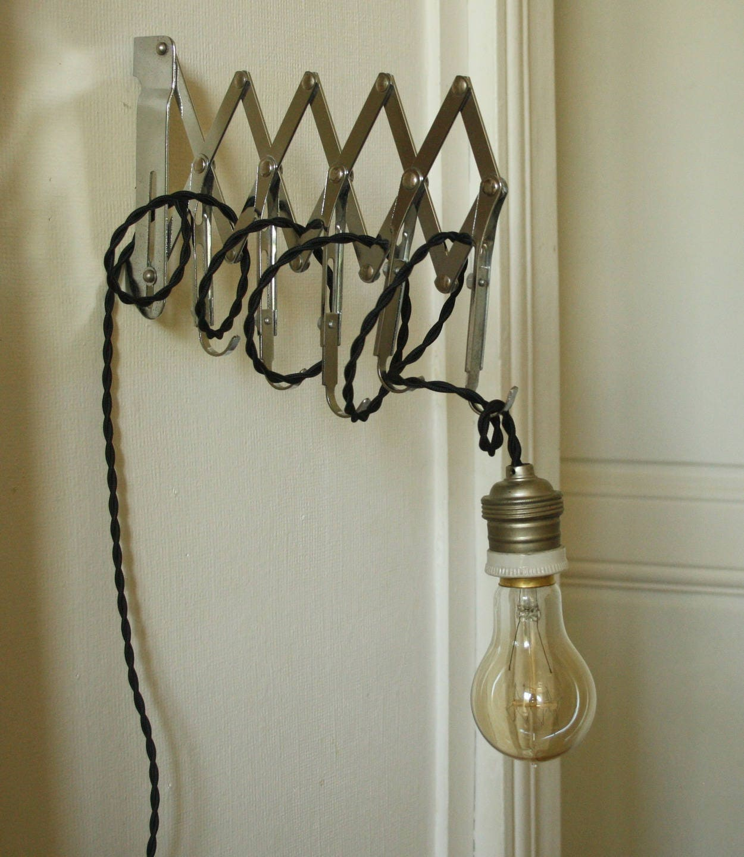 lampe accord on industrielle applique murale vintage. Black Bedroom Furniture Sets. Home Design Ideas