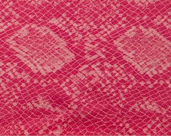 Snakeskin Fabric: Pink