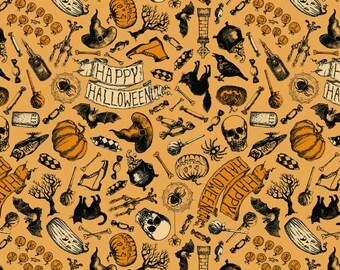 Happy Halloween by Patrick Lose - Happy Halloween Orange - Cotton Woven Fabric