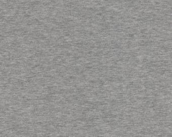 Avalana Knits by Stof Fabrics of Denmark - Heather Grey Solid - Cotton Poly Sweatshirt Knit