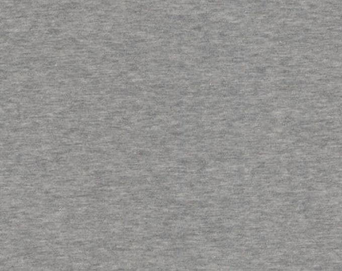 Avalana Knits by Stof Fabrics of Denmark - Heather Grey Solid - Cotton Poly Sweatshirt Knit