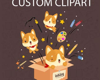 Custom Clipart / Digital Clip Art for Commercial and Personal Use / MADE TO ORDER