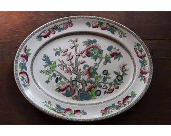 Vintage Johnson Brothers India Tree Platter Fine English China Serving Tray