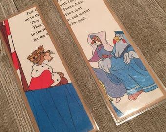 Robin Hood Disney Vintage Bookpage Bookmarks, Walt Disney, Mickey Mouse