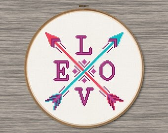 Love Arrows - PDF Cross Stitch Pattern