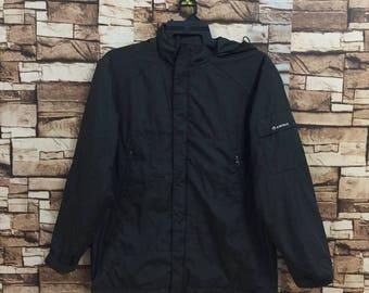 Vintage!!! AIRWALK windbreaker jacket hoodie... embroidered small logo jumper pullover.. bomber jacket..winter jacket.. size M black