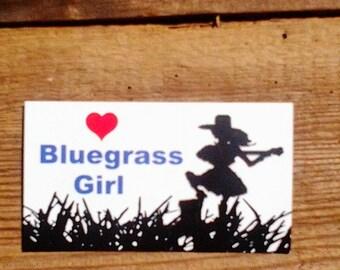 Bluegrass Girl Refrigerator Magnet