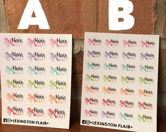 Hair Cut Stickers For Your Planner or Calendar. Works Great for ECLP, Filofax, happy planner