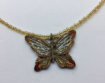 Butterfly beaded necklace