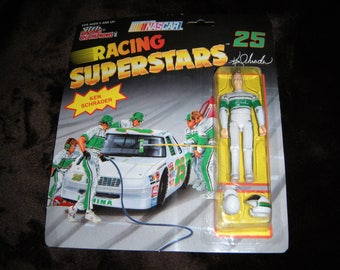 Vintage Retro #25 Ken Schrader NASCAR Action Figure Racing Champions In Original Box Rare Awesome Early 90s Die Cast Size GI Joe Style
