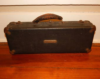 Vintage Clarinet Case; 1920's Clarinet; Antique Instrument Case; Vintage Home Decor; Decorative Vintage Box; Ready to Ship
