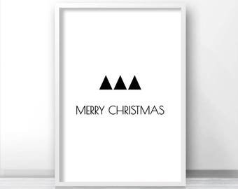 Scandinavian Christmas Decor, Instant Download Christmas Print, Holiday Print, Printable Christmas, Digital Art, Modern Minimalist Christmas