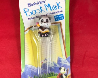Panda Book-A-Roo Bookmark - Early 90s New In Packaging - Book Fair Nostalgia