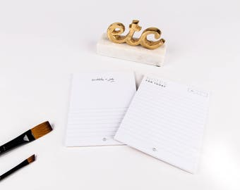 Pair of Notepads | Notes for Today | Office Organization | Desk Organization | Planning Tools | Home Organization | Minimal Notepad